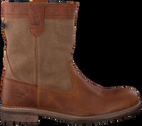 Cognacfarbene GAASTRA Ankle Boots CABIN HIGH FUR - medium