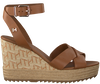 Cognacfarbene TOMMY HILFIGER Sandalen TH RAFFIA HIGH WEDGE  - small
