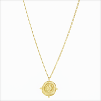 Goldfarbene NOTRE-V Kette KETTING MUNT  - medium