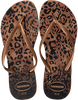 Braune HAVAIANAS Zehentrenner SLIM ANIMALS - small