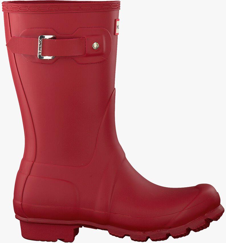 Rote HUNTER Gummistiefel WOMENS ORIGINAL SHORT - larger