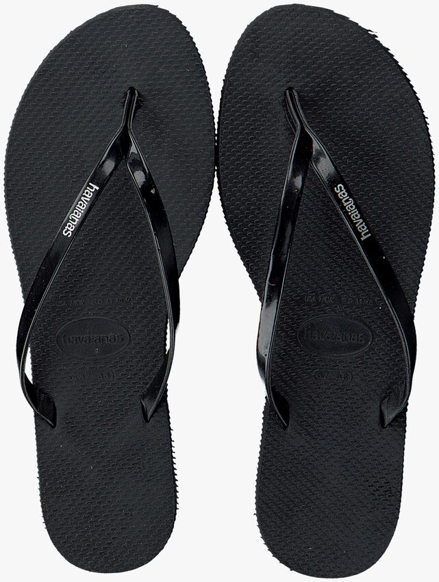 Schwarze HAVAIANAS Pantolette YOU METALLIC  - larger
