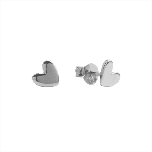 Silberne ALLTHELUCKINTHEWORLD Ohrringe PARADE EARRINGS HEART - large