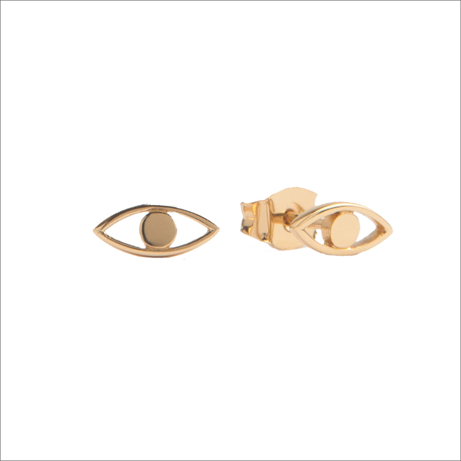 Goldfarbene ALLTHELUCKINTHEWORLD Ohrringe PARADE EARRINGS EYE - large