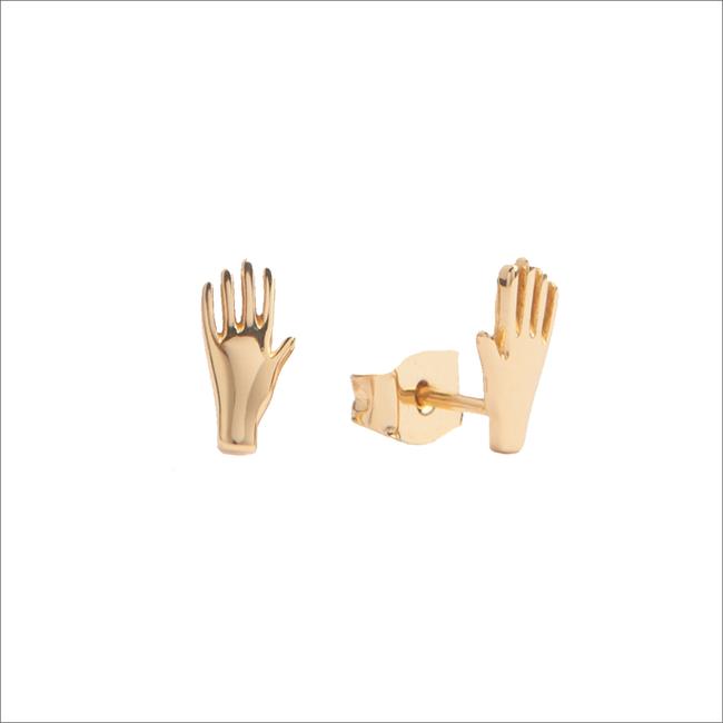 Goldfarbene ALLTHELUCKINTHEWORLD Ohrringe PARADE EARRINGS HAND - large
