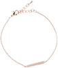 Goldfarbene ALLTHELUCKINTHEWORLD Armband ELEMENTS BRACELET TRIANGLE BAR - small