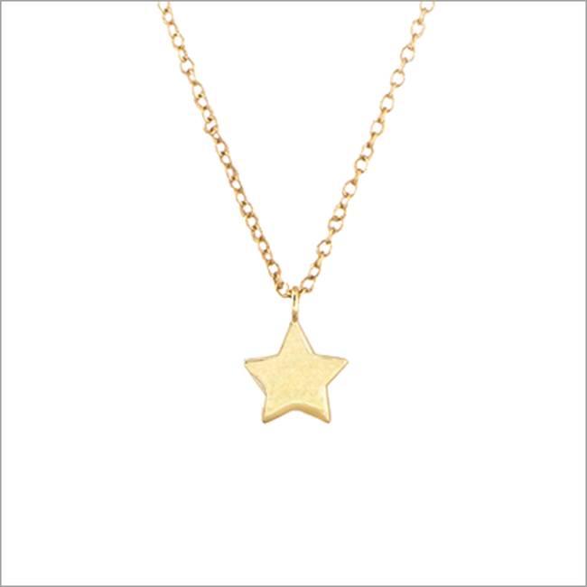 Goldfarbene ALLTHELUCKINTHEWORLD Kette FORTUNE NECKLACE STAR - large
