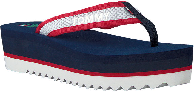 Blaue TOMMY HILFIGER Pantolette RECYCLED MESH MID BEACH  - large