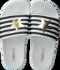 Weiße THE WHITE BRAND Pantolette STAR WHITE STRIPES  - small