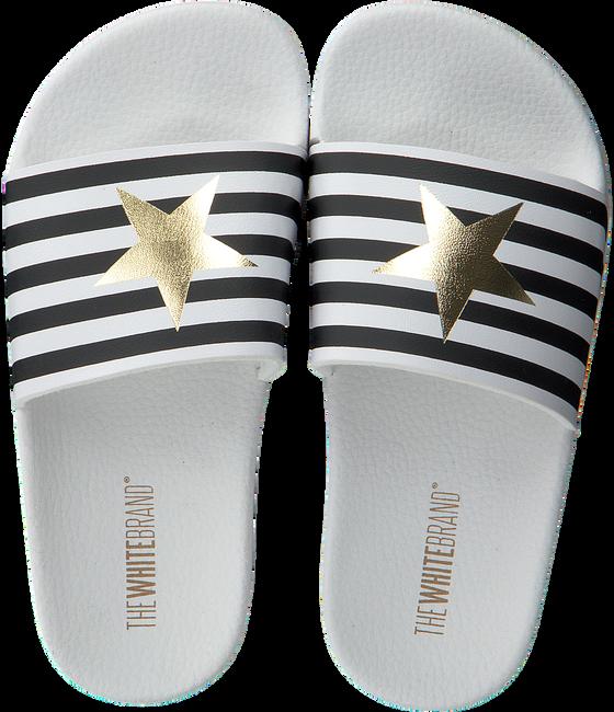 Weiße THE WHITE BRAND Pantolette STAR WHITE STRIPES  - large