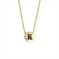 Goldfarbene ALLTHELUCKINTHEWORLD Kette CHARACTER NECKLACE LETTER GOLD - medium