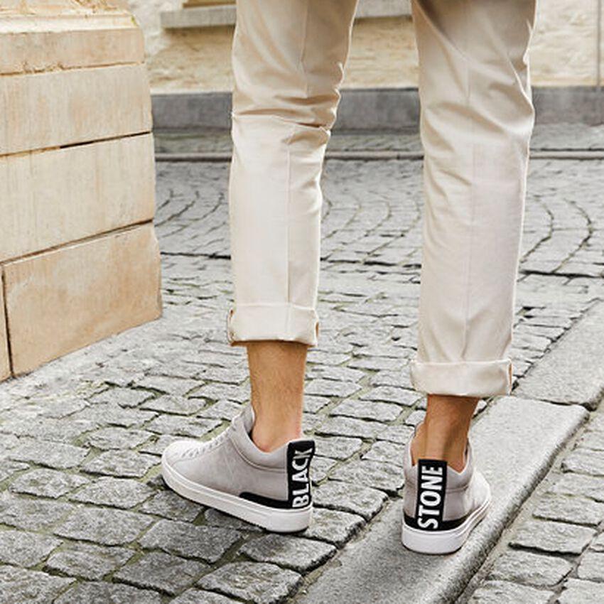 Graue BLACKSTONE Sneaker RM14  - larger