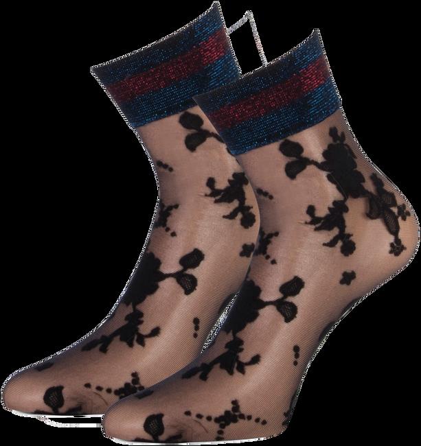 Schwarze MARCMARCS Socken FLOWER LUREX CUFF - large