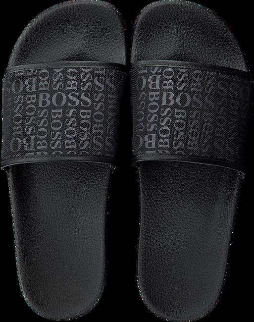 Schwarze HUGO BOSS Pantolette SOLAR SLID LOGO  - large