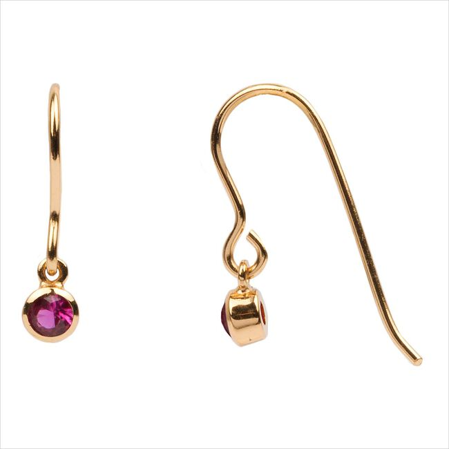 Goldfarbene ATLITW STUDIO Ohrringe BLISS EARRINGS HOOK PINK RUBY  - large