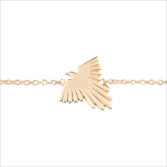 Goldfarbene ALLTHELUCKINTHEWORLD Armband SOUVENIR BRACELET EAGLE - large