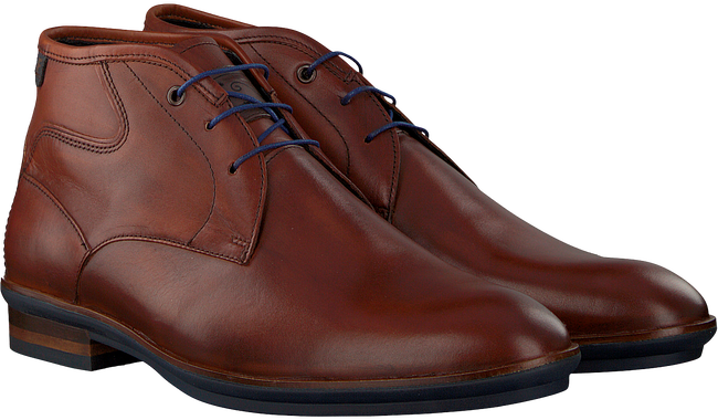 Cognacfarbene FLORIS VAN BOMMEL Ankle Boots 10156 - large