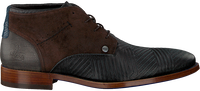 Schwarze REHAB Business Schuhe SALVADOR ZIG ZAG  - medium
