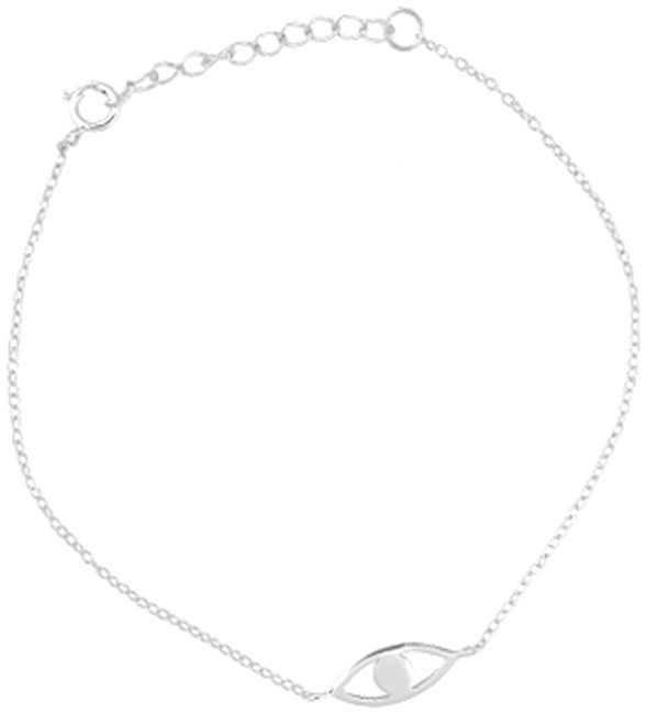 Silberne ALLTHELUCKINTHEWORLD Armband FORTUNE BRACELET EYE - large