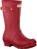 Rote HUNTER Gummistiefel WOMENS ORIGINAL SHORT - small