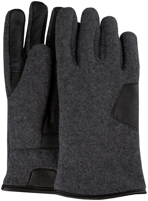 Graue UGG Handschuhe FABRIC AND LEATHER GLOVE - large
