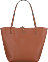 Cognacfarbene GUESS Handtasche ALBY TOGGLE TOTE  - medium