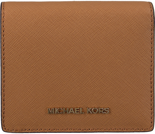 Cognacfarbene MICHAEL KORS Portemonnaie FLAP CARD HOLDER - large