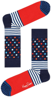 Blaue HAPPY SOCKS Socken STRIPES & DOT  - medium