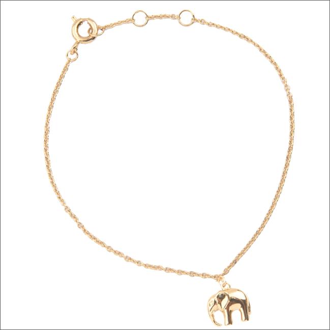 Goldfarbene ALLTHELUCKINTHEWORLD Armband SOUVENIR BRACELET ELEPHANT - large