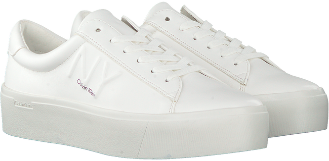 Weiße CALVIN KLEIN Sneaker low JAMELLA  - large