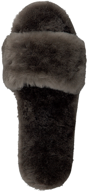 Graue WARMBAT Hausschuhe LUNA WOMAN FUR - large
