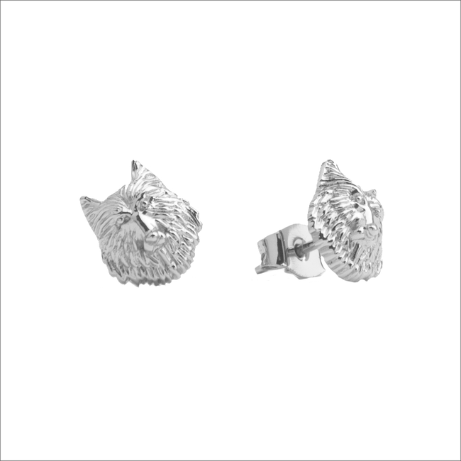 Silberne ALLTHELUCKINTHEWORLD Ohrringe PARADE EARRINGS WOLF - large