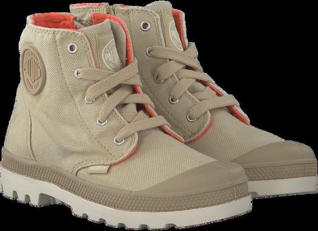 Beige PALLADIUM Ankle Boots PAMPA HI KIDS - large