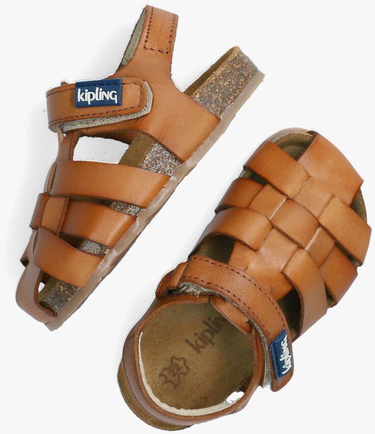 Cognacfarbene KIPLING Sandalen FIDEL - larger