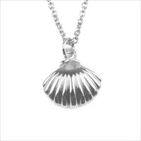 Silberne ALLTHELUCKINTHEWORLD Kette SOUVENIR NECKLACE SEA SHELL - medium