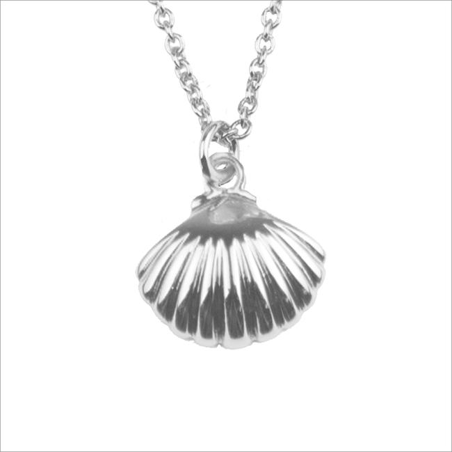 Silberne ALLTHELUCKINTHEWORLD Kette SOUVENIR NECKLACE SEA SHELL - large