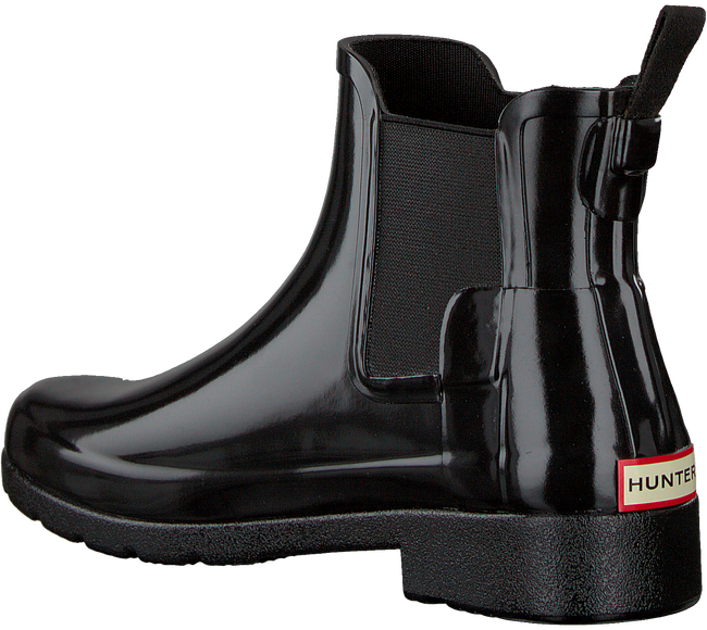 Schwarze HUNTER Gummistiefel ORIGINAL REFINED CHELSEA GLOSS - large