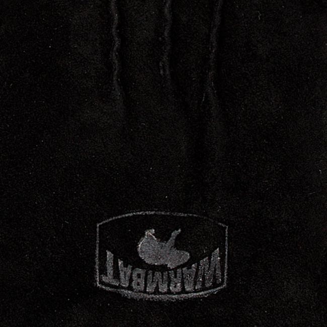 Schwarze WARMBAT Handschuhe GLOVES WOMEN SUEDE - large