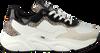 Weiße HUB Sneaker low ROCK L59 PONY HAIR  - small