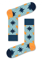 Blaue HAPPY SOCKS Socken NAUTICAL STAR SOCK  - medium