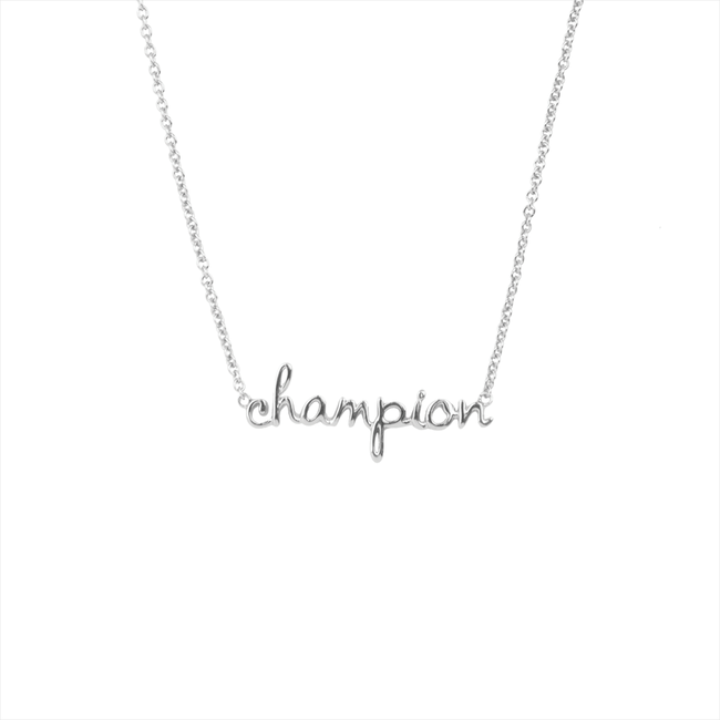 Silberne ALLTHELUCKINTHEWORLD Kette URBAN NECKLACE CHAMPION - large