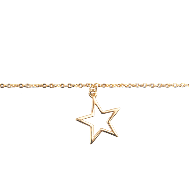 Goldfarbene ALLTHELUCKINTHEWORLD Armband SOUVENIR BRACELET STAR - large