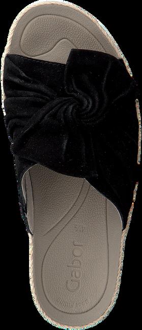 Schwarze GABOR Pantolette 729 - large