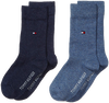 Blaue TOMMY HILFIGER Socken TH CHILDREN SOCK TH BASIC 2P - small