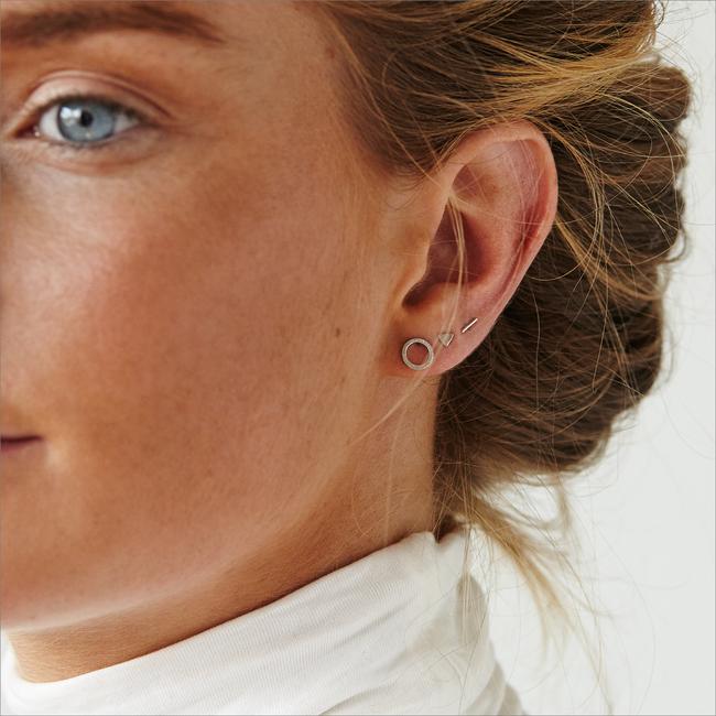 Silberne ALLTHELUCKINTHEWORLD Ohrringe PETITE EARRINGS MINI STRIP - large