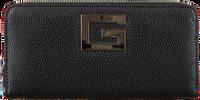 Schwarze GUESS Portemonnaie BRIGHTSIDE  LRG ZIP AROUND  - medium