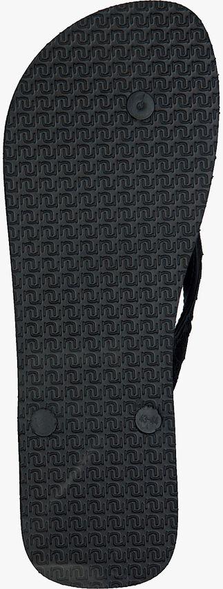 Schwarze UZURII Pantolette PYTHON - larger