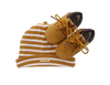 Camelfarbene TIMBERLAND Babyschuhe CRIB BOOTIE W/HAT - small
