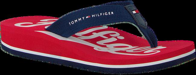 Rote TOMMY HILFIGER Pantolette BASEBALL PRINT FLIP FLOP  - large