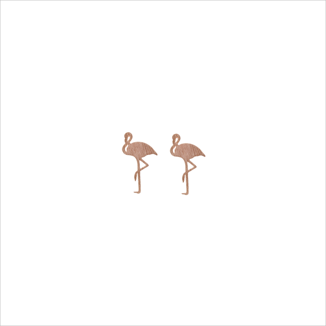 Goldfarbene ALLTHELUCKINTHEWORLD Ohrringe ELEMENTS EARRINGS FLAMINGO - large